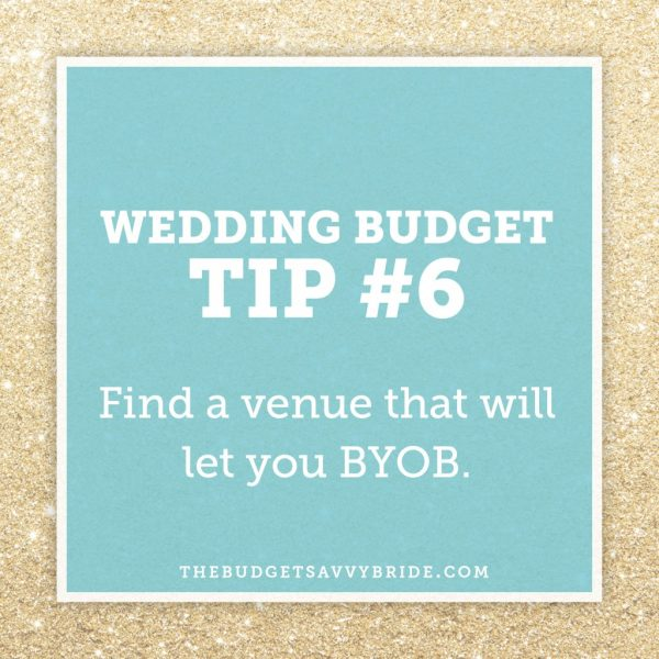 #weddingbudgettip: Find a Venue that will let you BYOB.