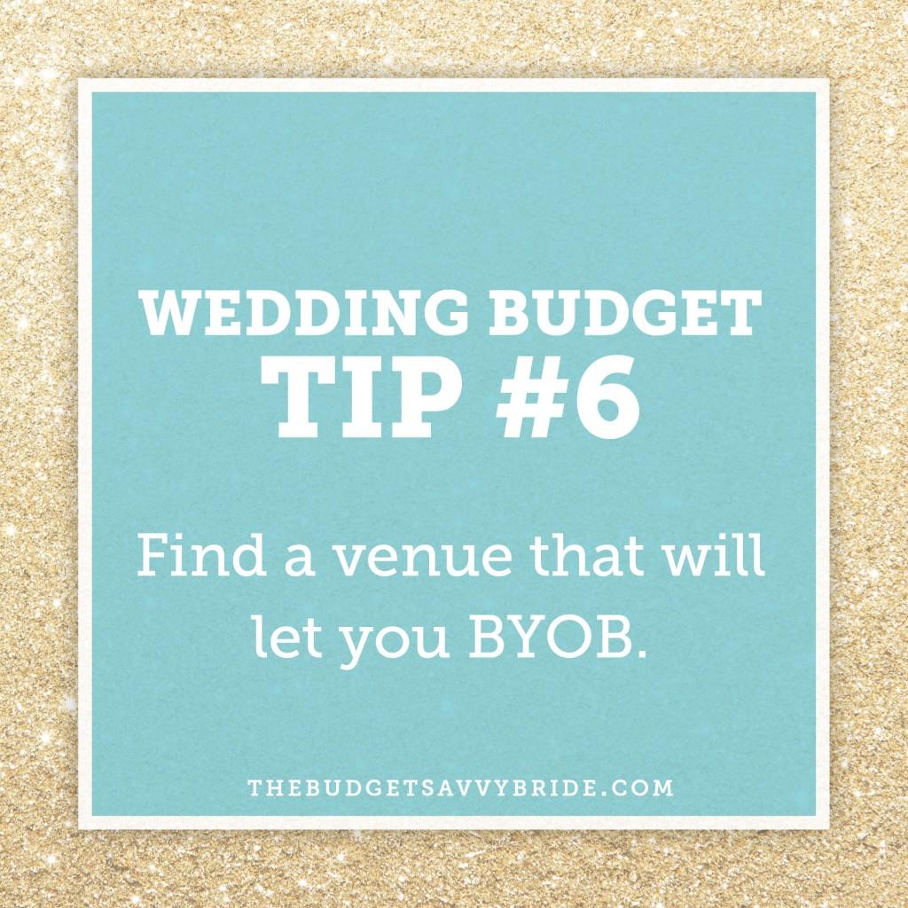 #weddingbudgettip: Find a Venue that will let you BYOB.