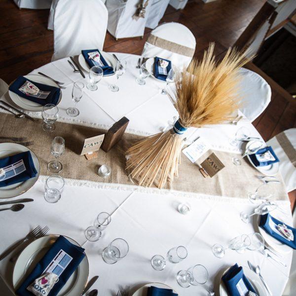 wheat wedding centerpiece -Cardens Photography