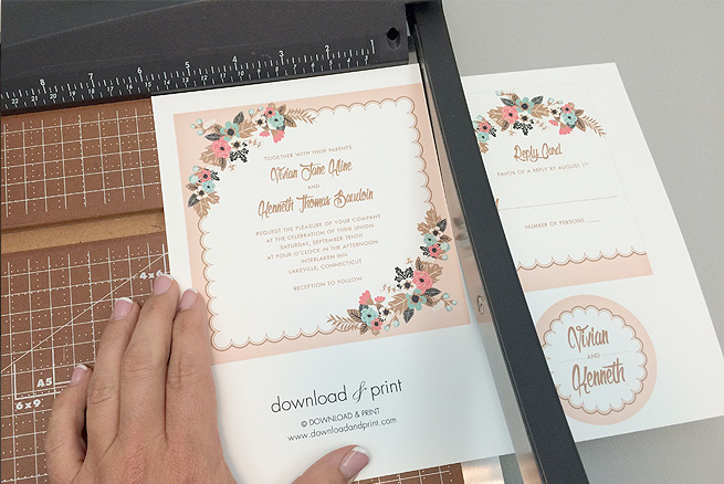 Free delicate floral wedding invitation suite the budget savvy bride trim free delicate floral printable wedding invitation suite pronofoot35fo Gallery