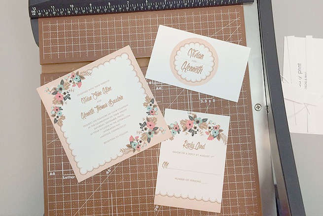 Trim result of free delicate floral printable wedding invitation suite