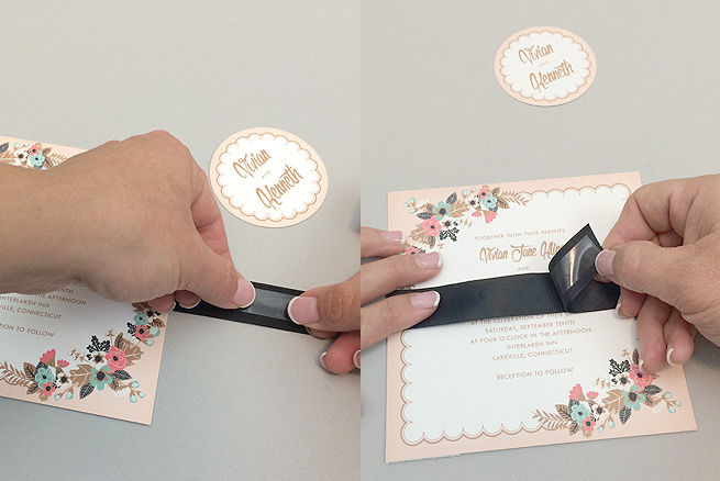 Create Belly Band On Free Printable Wedding Invitation Suite