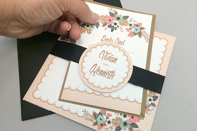 Free delicate floral wedding invitation suite the budget savvy bride free delicate floral printable wedding invitation suite junglespirit Image collections