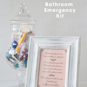 SomethingTurquoise + TheBudgetSavvyBride DIY -- Bathroom Emergency Kits with FREE printables!
