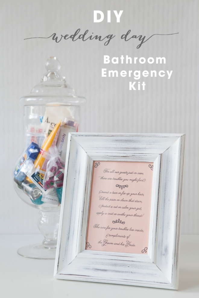 Wedding Bathroom Kit Sign diy bathroom emergency kit - free printables! | the budget savvy bride