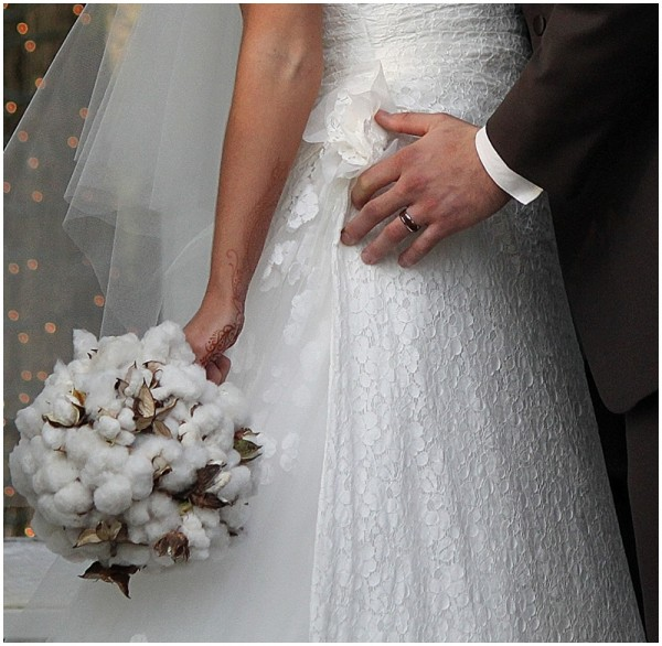 cotton wedding bouquet - wedding flowers alternatives