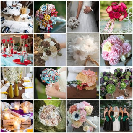 wedding flower alternatives - ideas for wedding flowers that don't include fresh blooms!