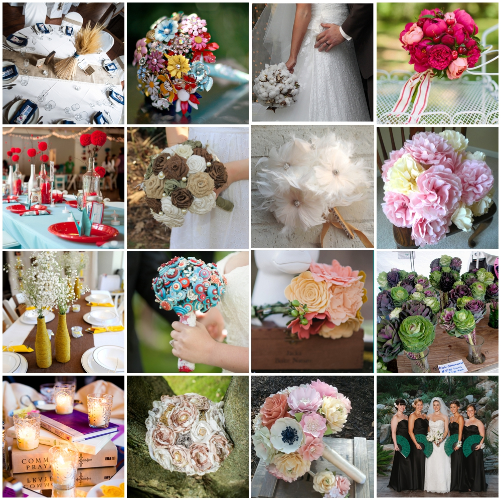 Wedding Flower Alternatives | The Budget Savvy Bride
