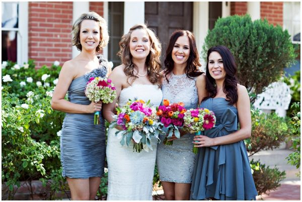 grey bridal party