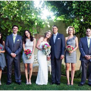 gray wedding party