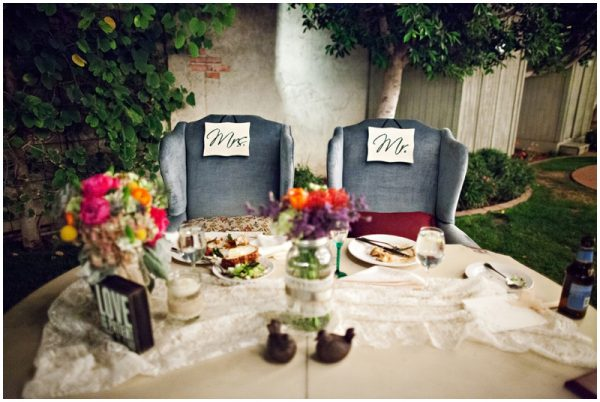 mr and mrs chairs wedding