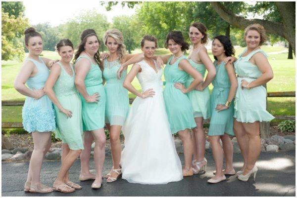 mint bridesmaids dresses