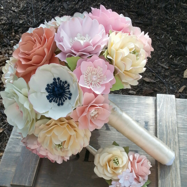 paper wedding bouquet - wedding flower alternatives