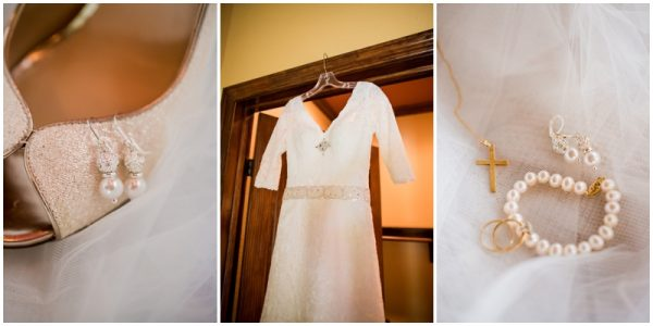 mint wedding, her dress and accessories