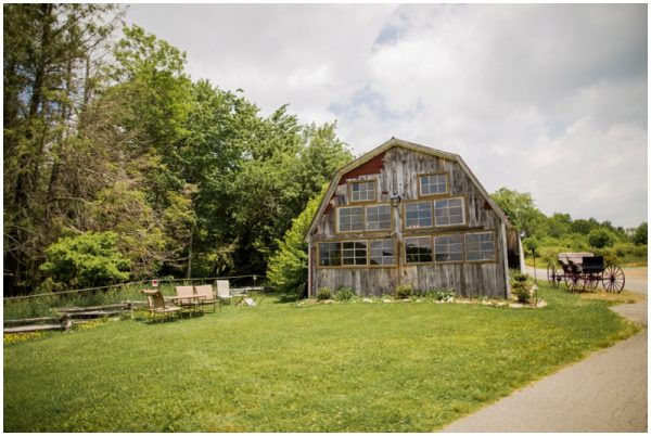 wedding in a barn