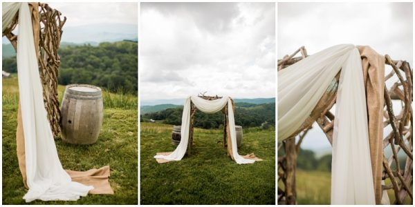 mint wedding altar