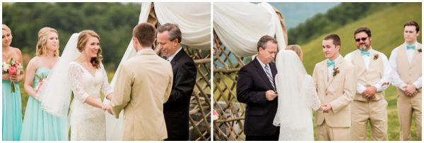 mint wedding ceremony