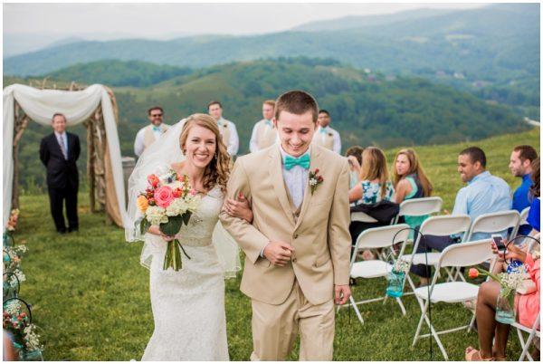 mint wedding recessional