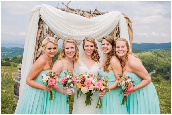 mint wedding bridesmaids