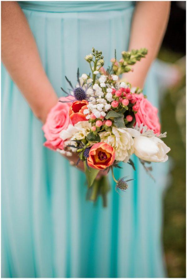 mint wedding sweet bridesmaids bouquet
