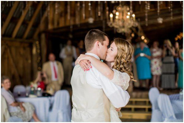 barn wedding first dance