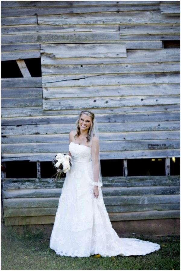 rustic wedding bride