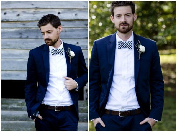 stylish groom rustic wedding