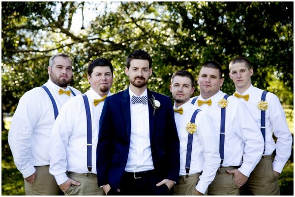stylish groomsmen rustic wedding