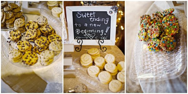cookie bar - dessert bar at a wedding
