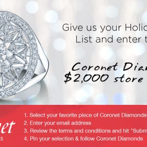 coronet diamonds pinterest contest