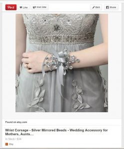 I still haven't decided if I'll ever be able to craft something as pretty as this corsage from BridalBouquetsbyKy on Etsy