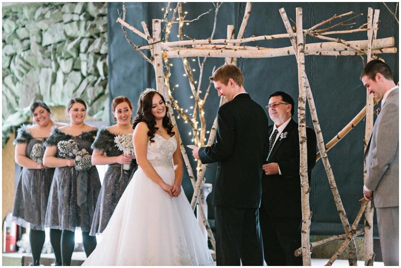 winter wedding ceremony