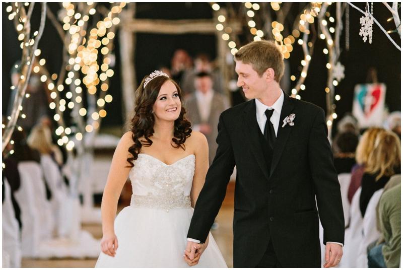magical DIY winter wedding bride and groom