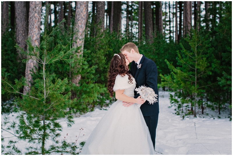www.james-stokes.com magical DIY winter wedding portraits