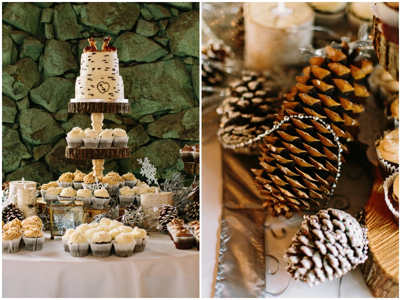 Magical diy winter wedding the budget savvy bride james stokes winter wedding cake decor junglespirit Images