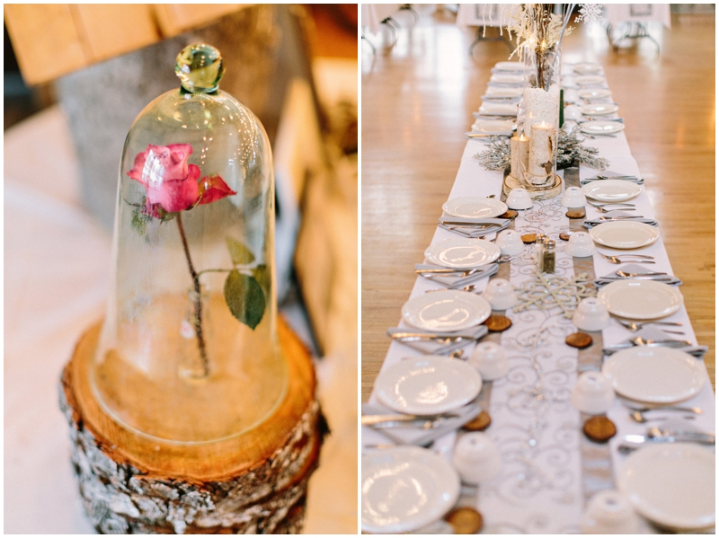 Www James Stokes Winter Wedding Reception Table Details