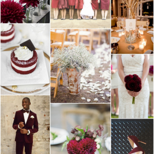 marsala wedding inspiration from Minted!