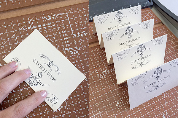 Printable elegant place cards