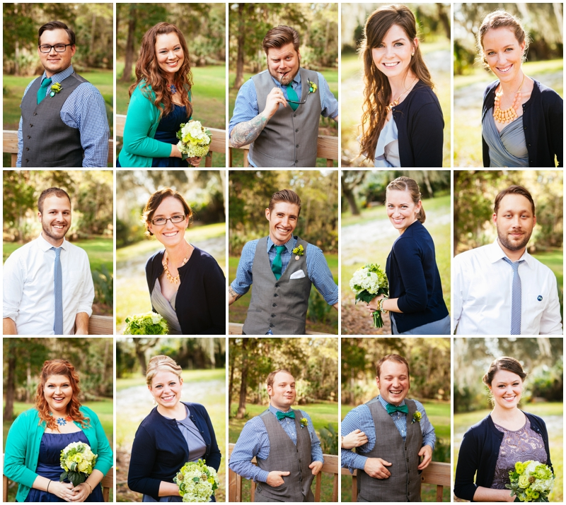 individual wedding party photos