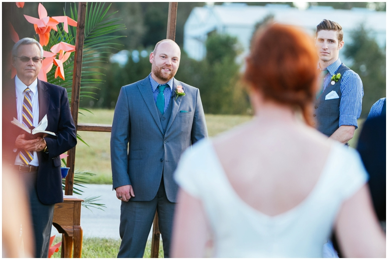 groom's first sight of the bride -- love these shots!