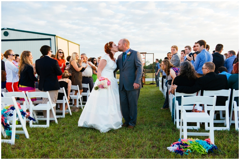 wedding recessional - kiss