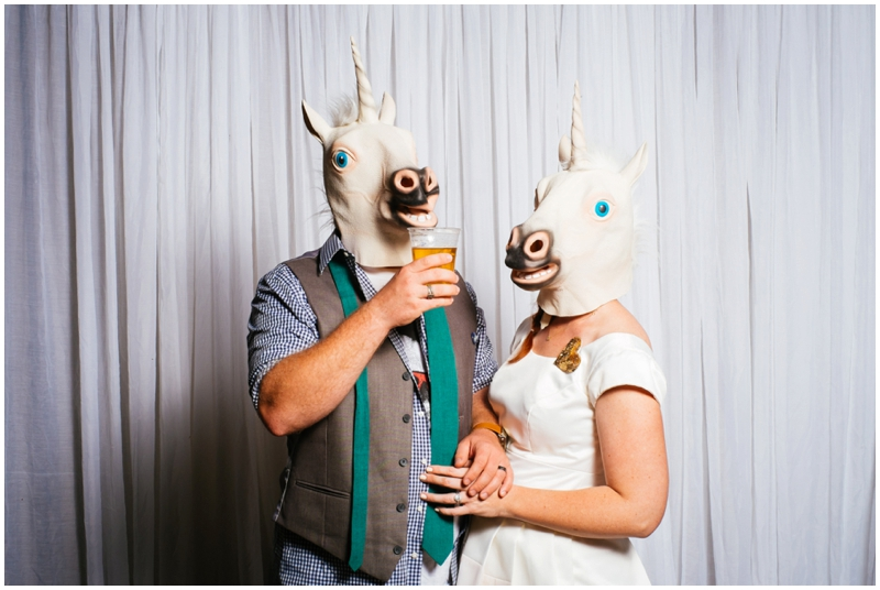 unicorn wedding masks