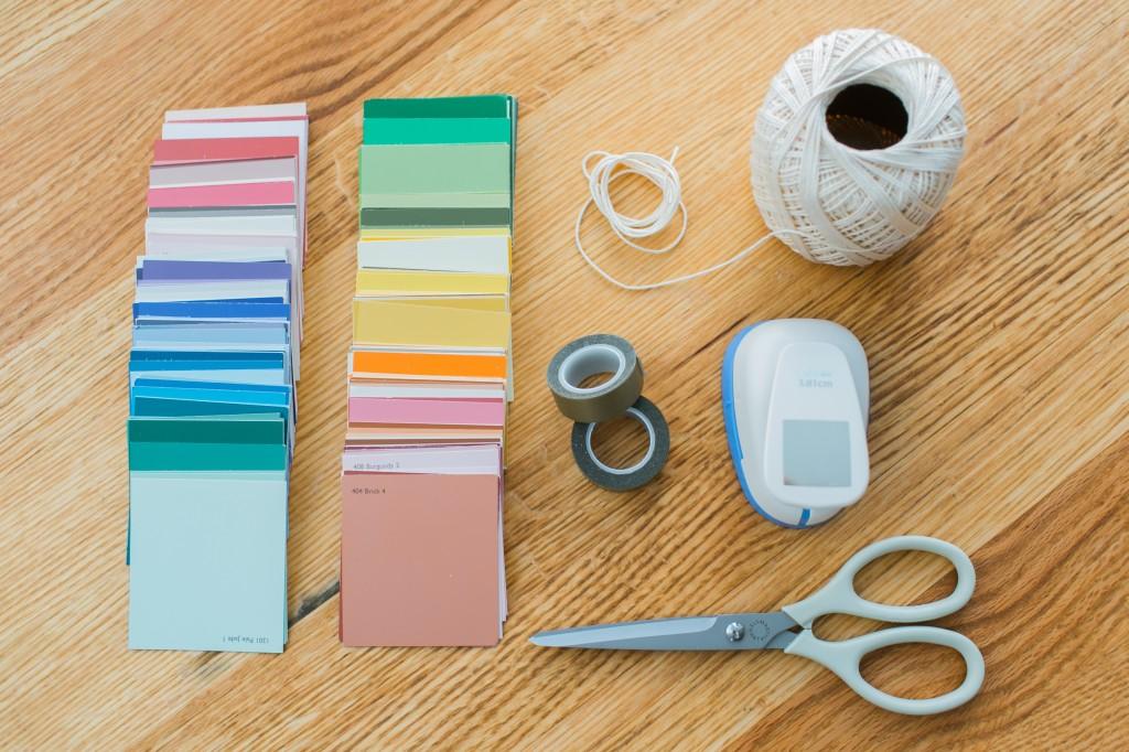 geometric paper backdrop materials