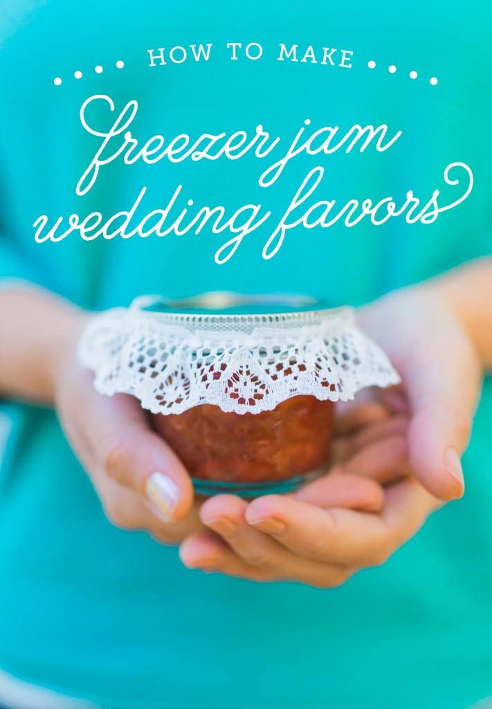 freezer jam wedding favors