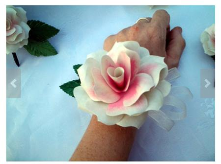 Paper Flower Wrist Corsage by JsWeddingFlowers on Etsy