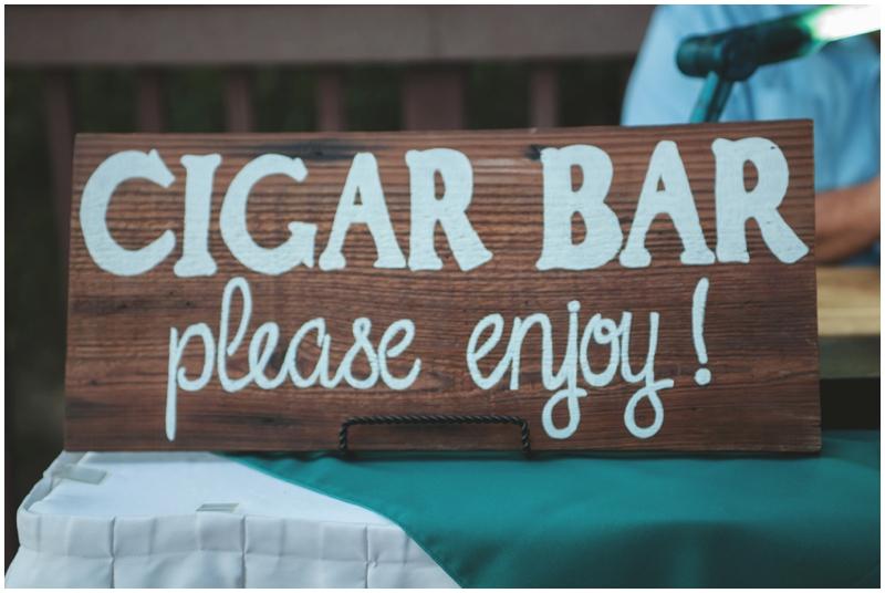 cigar bar at a wedding