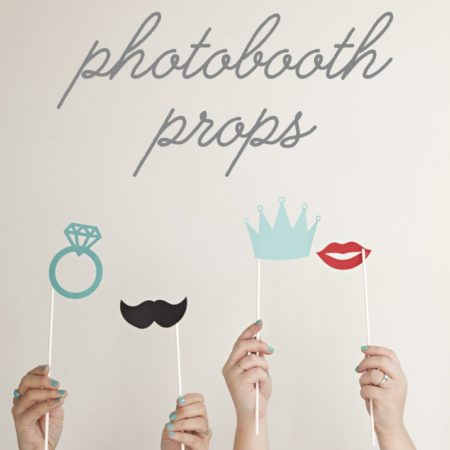 diy photobooth props for your wedding or party!