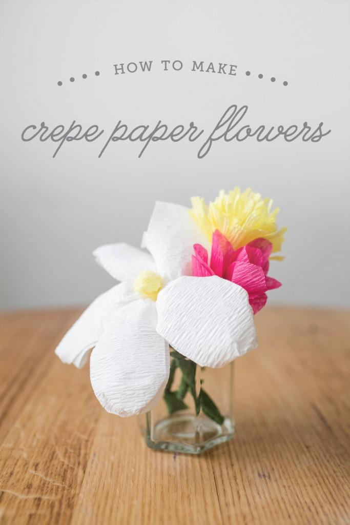 diy tutorial: how to make crepe paper flowers