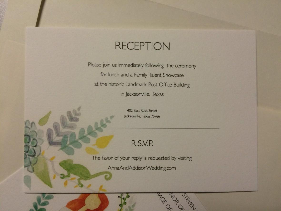 Unique Wedding Invitation Insert