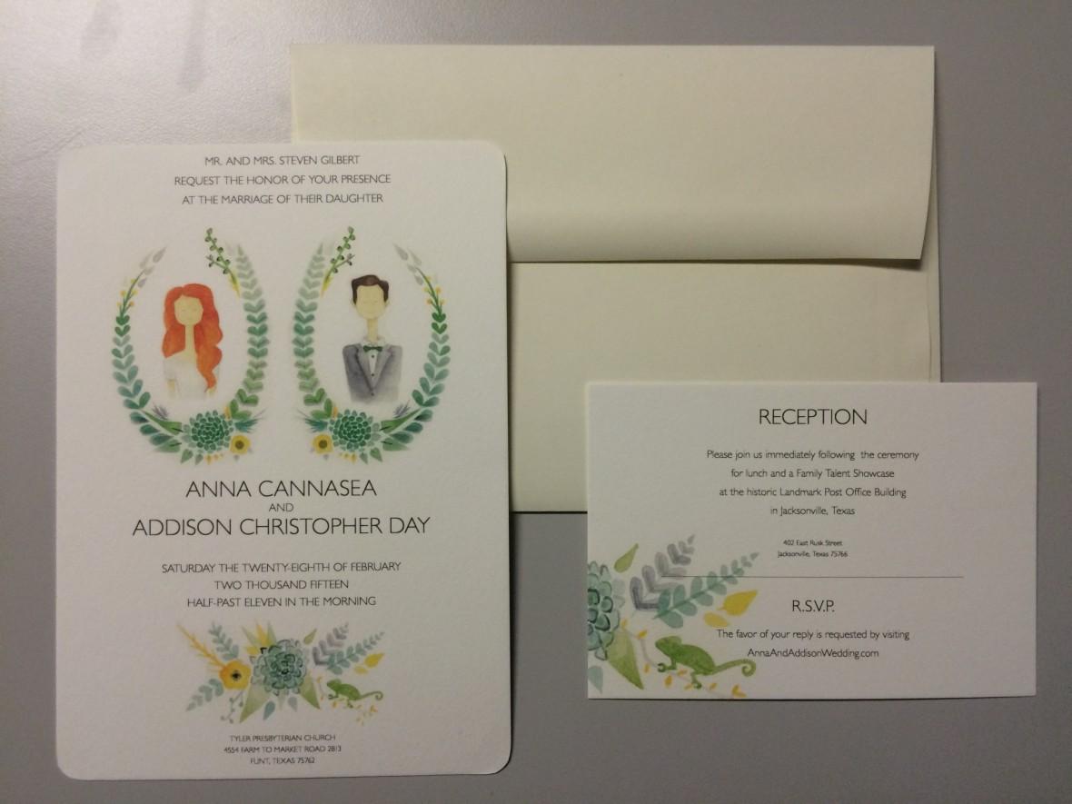 Unique Wedding Invitation Set